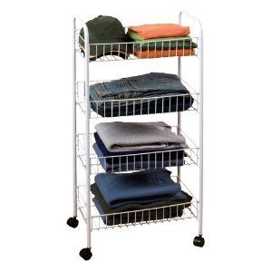 New Cart Metal Shelving with Wheels Rolling Restaurant