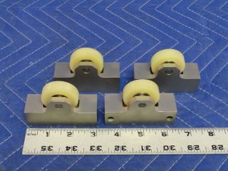 Set of 4 Fixed Wheels in A Metal Frame P52