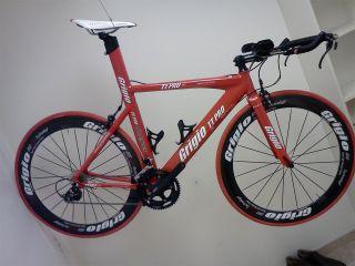 TT Pro Triathlon Time Trial Bike TT Carbon Wheels Grigio Red