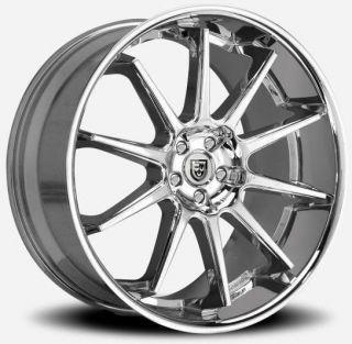 Lexani R 10 Chrome Wheel Rim 5x4 5 EX35 FX35 FX45 Lancer Supra