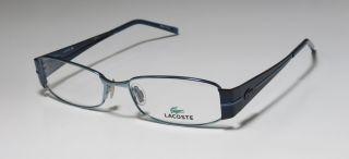 NEW LACOSTE 12241 54 16 135 BLUE OPTICAL FULL RIM VISION EYEGLASS