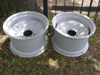 Pair of Case Tractor Back Hoe Rims 19 5 x 24 6 Center Hole 8 Lug