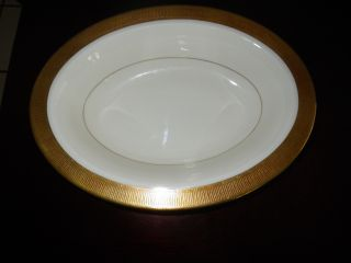 Durham Gold Vegetable Oval Serving Bowl Fine China Gold Rim