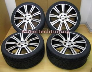20 Range Rover Stormer Wheel and Tire Package Black Machined