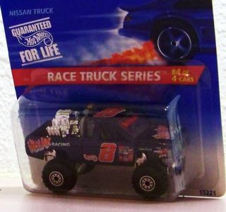 1995 Hot Wheels Nissan Truck Pick Up Race Truck Series 4 of 4 Racing 8