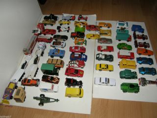 Diecast Toy Car Lot Hot Wheels Matchbox Lesney Majorette Corgi 55 CARS