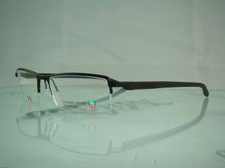 001 Black Automatic Half Rim Glasses Eyeglasses Frames Size 56
