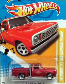 Hot Wheels 2012 1978 Dodge Pickup Lil Red Express 34 50