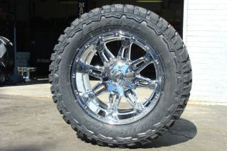 18 Fuel Hostage Chrome wheels rims 35x12 50R18 35 mud tires Federal MT