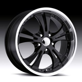 Inch Black Machined Vision Shockwave Wheels Rims Kia Honda Ford Dodge