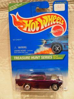 HOT WHEELS TREASURE HUNT SERIES 1995 57 CHEVY 15080 COLLECTOR #434