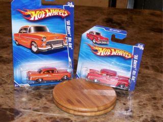 Hot Wheels X2 55 Chevy Bel Air Orange Red