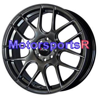530 Chromium Black Concave Rims Wheels 93 97 98 02 Toyota Corolla CE S