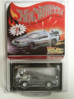 HOT WHEELS BACK TO THE FUTURE TIME MACHINE DELOREAN RLC REDLINE CLUB