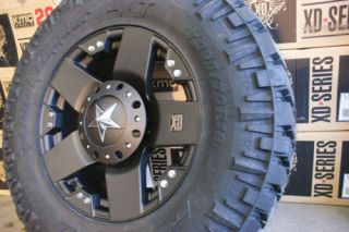 20 Wheels Rims XD Rockstar Black 35 12 50R20 Nitto Trail Grappler MT