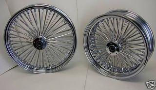 DNA Chrome Mammoth Fat 52 Spoke Wheels 21x3 5 18x5 5 Fatboy Harley