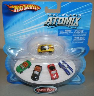 Hot Wheels Hotwheels Atomix Sports Stars Set of 5 Vehicles