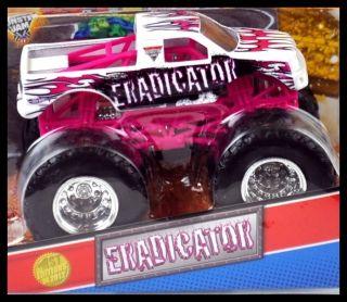 Hot Wheels Monster Jam Truck 1ST EDITIONS 2012 ERADICATOR with Topps 1