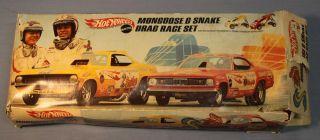 Hot Wheels 1969 Mongoose Snake Drag Race Set