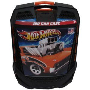 Hot Wheels 100 Car Carry Case Wheeled Storage New