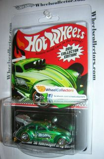56 Volkswagen Drag Beetle 2012 Hot Wheels Kmart Mail in Green