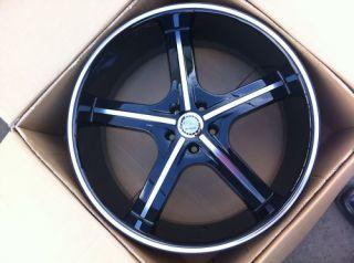 20 5x115 Black Machine Wheels Tire Camry Mustang U2 55 Accord Fusion