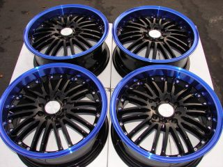 4x100 Blue Wheels Integra Ford Focus ZX2 VX3 SVT Cougar 4 Lug Rims