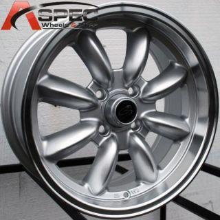 15x7 Rota RB 4x100 57 1mm Wheels Rim BMW 2002 E21 E30