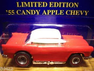 HOTWHEELS LIMITED EDITION 55 CHEVY CANDY APPLE RED WHITE RARE 5K MADE