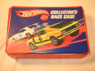 Vintage Mattel Hot Wheels 1969 Red Line Vinyl Collector Case Complete