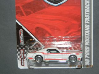 2011 Hot Wheels Garage 2 65 Mustang Fastback Hotwheels White
