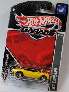 HOT WHEELS 2011 GARAGE GM 1967 67 CHEVY CAMARO  . YELLOW BLACK TOP