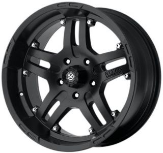 20 inch ATX Artillery Black Wheels 8 Lug Chevy Dodge