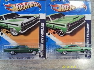 2012 Hot Wheels Super Secret Treasure Hunt 2 10 66 Ford 427 Fairlane