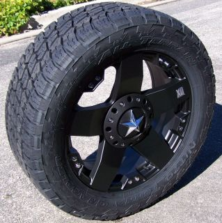 20 Black XD Rockstar Wheels Rim Nitto Terra Grappler Tires Ford F250