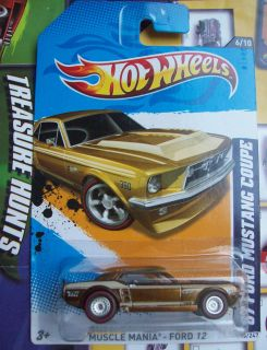 HOT WHEELS SUPER SECRET TREASURE HUNT 67 FORD MUSTANG COUPE ON LONG