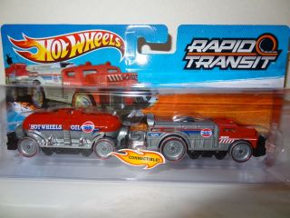 2012 Hot Wheels Rapid Transit Hot Wheels Oil Fast Freight Case J