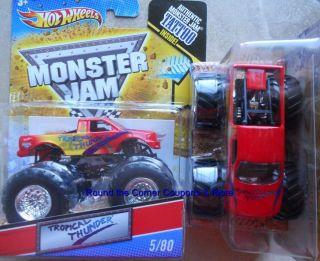 2011 Hot Wheels Monster Jam 5 Tropical Thunder Truck 1 64 New from Q