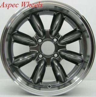 15 Rota RB Rim Wheels 4x100 Rim 30mm Royal Hyper Black Fits 4 Lug