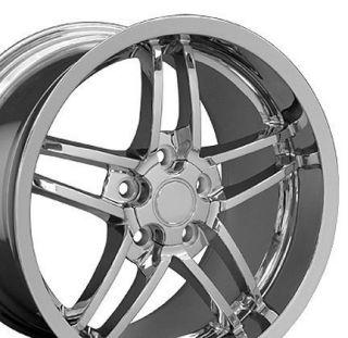 18 Rims Fit Camaro Corvette C6 Z06 Deep Dish Wheels