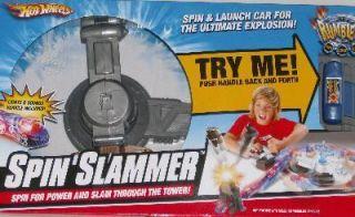 Hot Wheels Spin Slammer Race Car Launch Ramp Blast Set