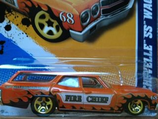 2012 Hot Wheels 70 Chevelle SS Wagon Fire Chief
