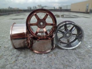 RC 1 10 On Road Car Racing 6 Spoke Drift Wheels Rim Offset 6mm Copper