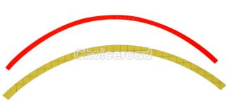 16 Strips Red Reflective Car Motorcycle Rim Stripe Wheel Tape Stickers
