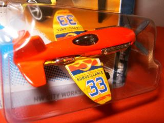 2012 Hot Wheels 1 64 Mad Propz Red Yellow 33 Airplane RARE 4 10 134