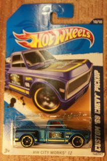 Hot Wheels 2012 HW City Works 10 10 Custom 69 Chevy Pickup Blue