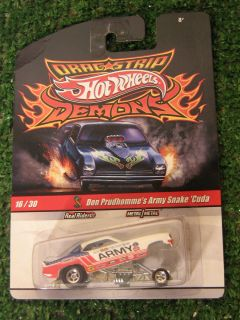 Hot Wheels 1 64 Drag Strip Demons 16 30 Don Prudhomme Army Snake Cuda