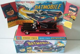Hotwheels Model Batmobile 1 50 Scale 1966 Batman Corgi Toys 267 Mini