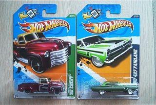 2012 Hot Wheels Super Treasure Hunt 66 Ford 427 Fairlane 52 Chevy