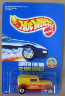 Hot Wheels 1989 #67 32 Ford Delivery Blue Card Variation BP Blister